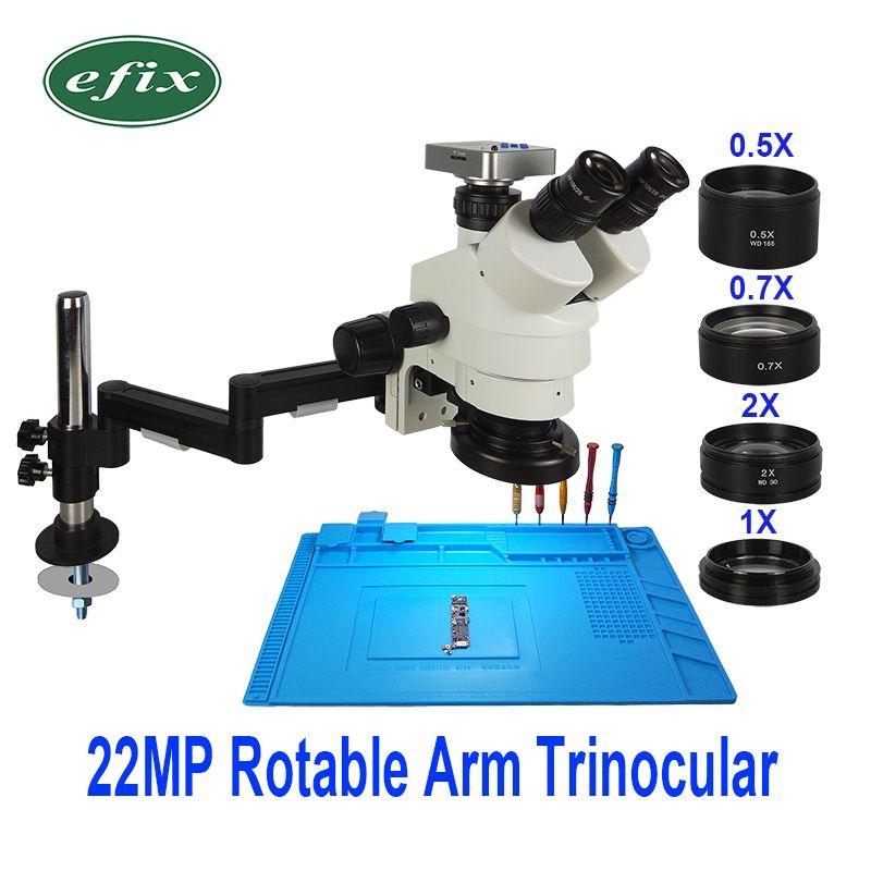 22MP 3,5-90X HDMI USB Kamera Faltbare Universal Stand Trinocular Mikroskop Löten Stereo Continus Zoom Für Telefon Reparatur