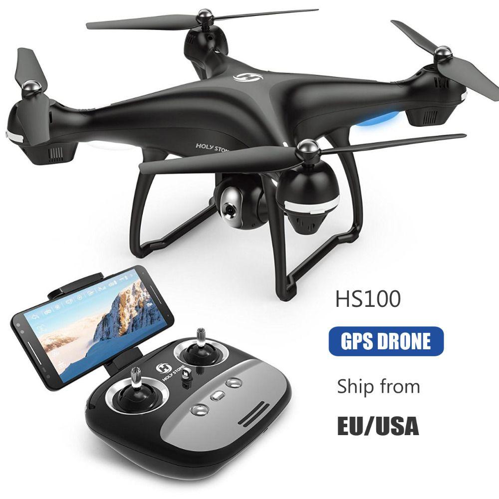 [EU USA Stock] Holy Stone HS100 GPS FPV RC Drone Wide Angle 720P 1080P Wifi Camera FPV Long Fly 7.4V 2500mA battery APP Control