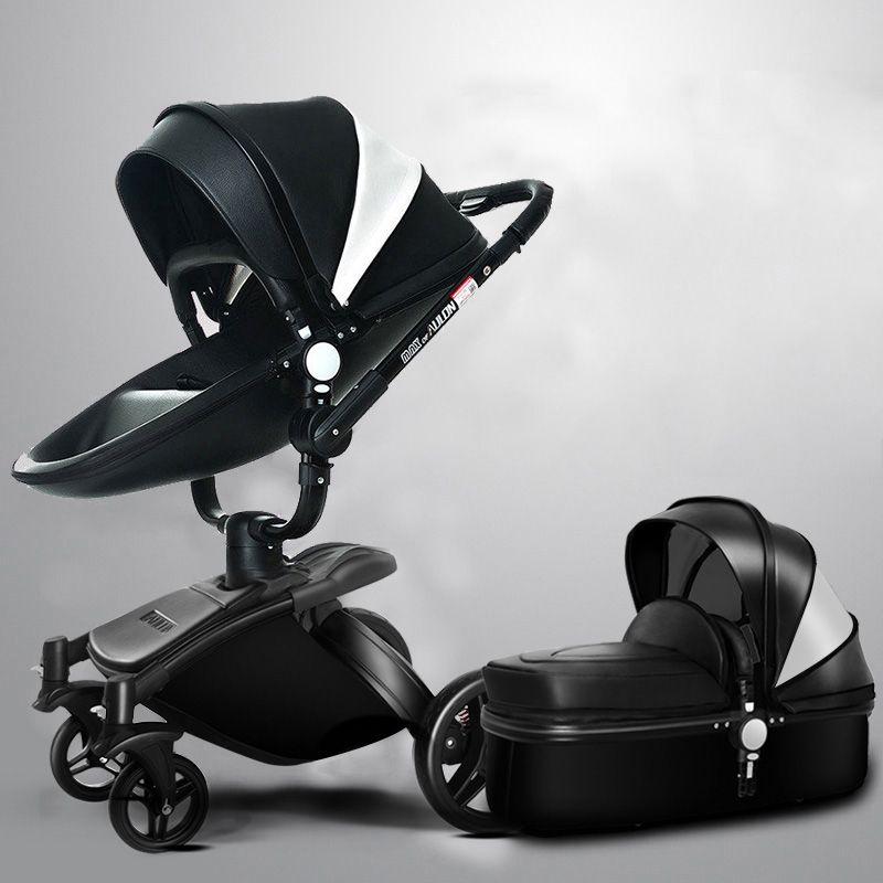 Aulon baby kinderwagen 2 in 1 baby kinderwagen pu leder kann sitzen und liegen vier jahreszeiten winter Russland kostenloser versand