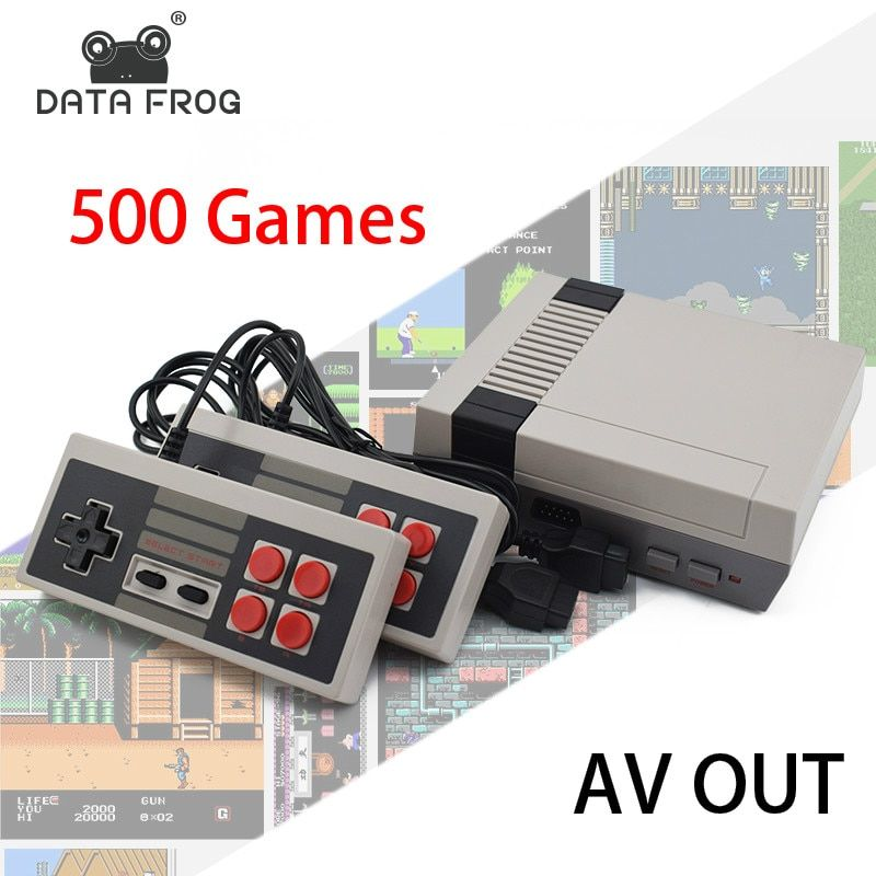 Data Forg Mini TV Game <font><b>Console</b></font> 8 Bit Retro Video Game <font><b>Console</b></font> Built-In 500 Games Handheld Gaming Player Best Gift