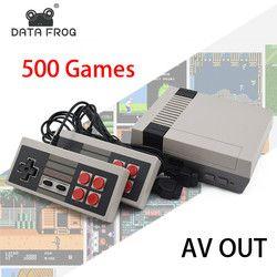 Datos Forg Mini TV juego 8 poco Retro consola de videojuegos incorporado 500 juegos de juego portátil mejor regalo