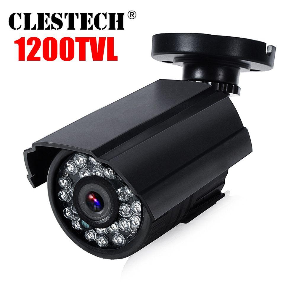 Réel 1200TVL HD Mini caméra de vidéosurveillance Cmos extérieur étanche IP66 IR Vision nocturne analogique Cam couleur surveillance de sécurité avec support