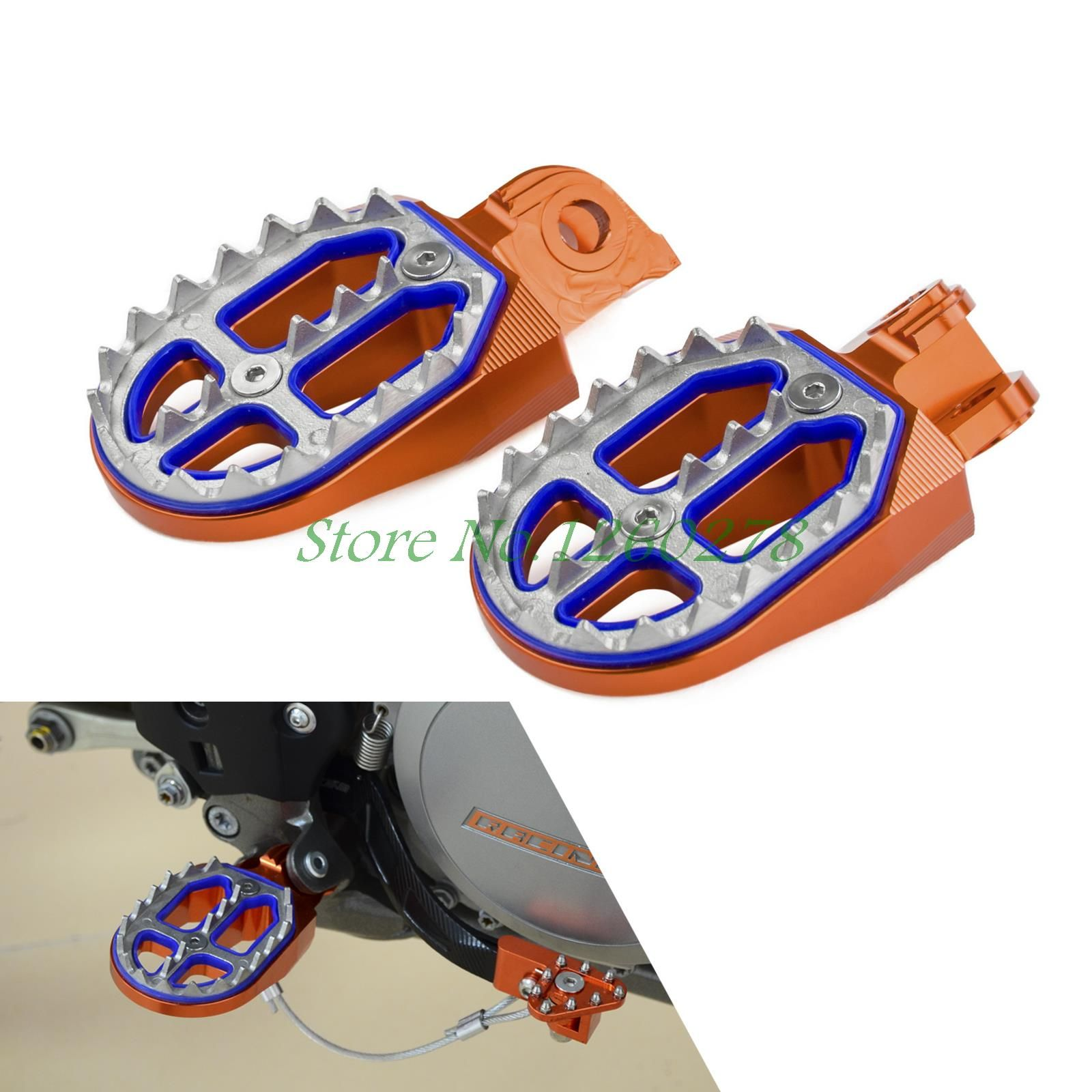 Racing Foot Pegs Rests Pedals For KTM EXC EXCF XC XCF XCW SX SXF 50 125 250 350 450 525 530 690 950 990 1190 1290 SMC ENDURO