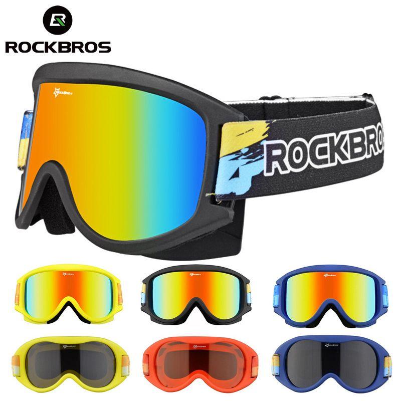 ROCKBROS Ski Brille Gläser Schnee Skifahren Brillen Doppel-Schicht Snowboard Anti-Nebel PC Linsen TPU UV Rahmen Brille männer Frauen