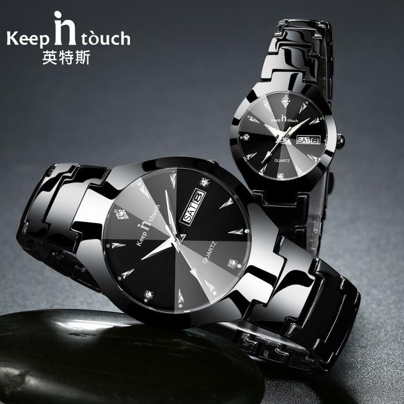 KEEP IN TOUCH Brand Luxury Lover Watches Quartz Calendar Dress Women Men Watch Couples Wristwatch Relojes Hombre 2017 With Box