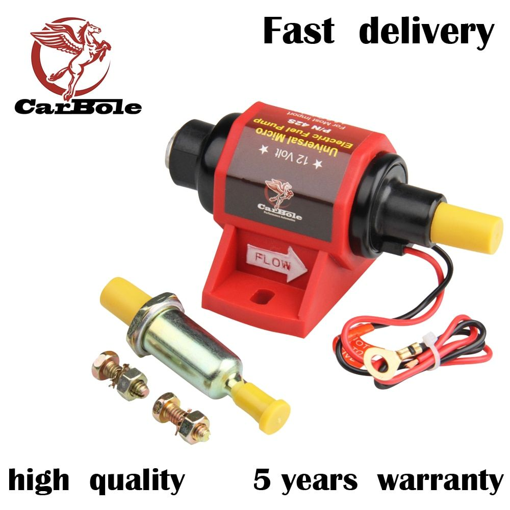CARBOLE 12V Universal Micro Electric Gasoline Fuel Pump Applications 42 GPH 2-3.5PSI