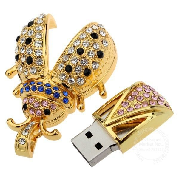 Transcend красивый кристалл жук USB 2.0 флешки 4 ГБ 8 ГБ 16 ГБ Memory Stick USB флэш-накопители