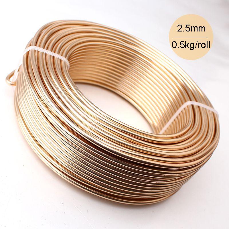 En gros 0.5 kg anodisé artistique en aluminium artisanat fil 2.5mm 10 jauge 39 m 43yd couleur bijoux doux métal fil couleurs permanentes
