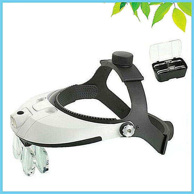 Multi puissance LED Illumination main libre bandeau Loupe casque Loupe réparation tête visière dentaire chirurgicale Loupe