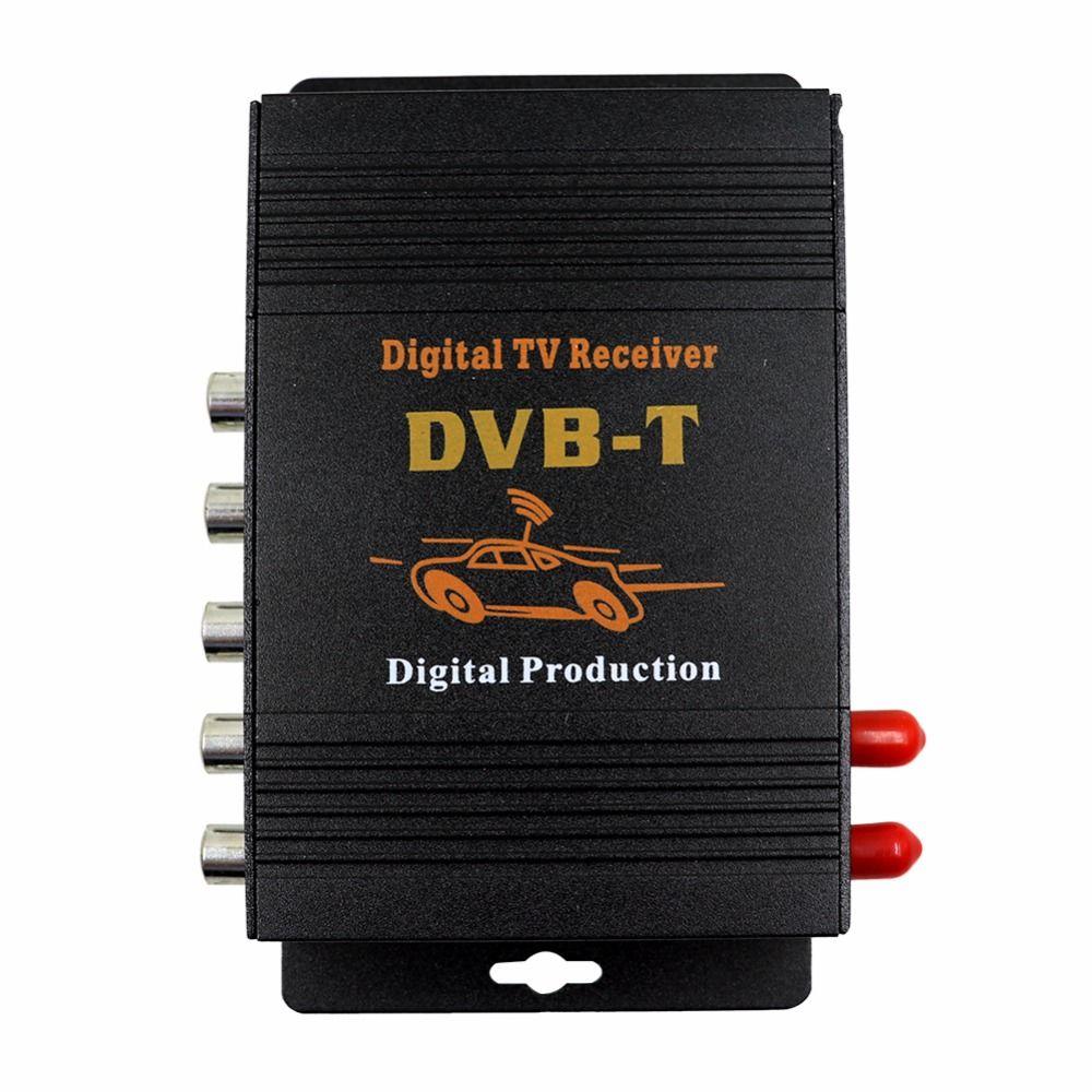 M-618 Car TV Tuner DVB MPEG-4 double antenna Digital TV BOX Receiver Mini TV Box work in Europe,Middle East , Australia
