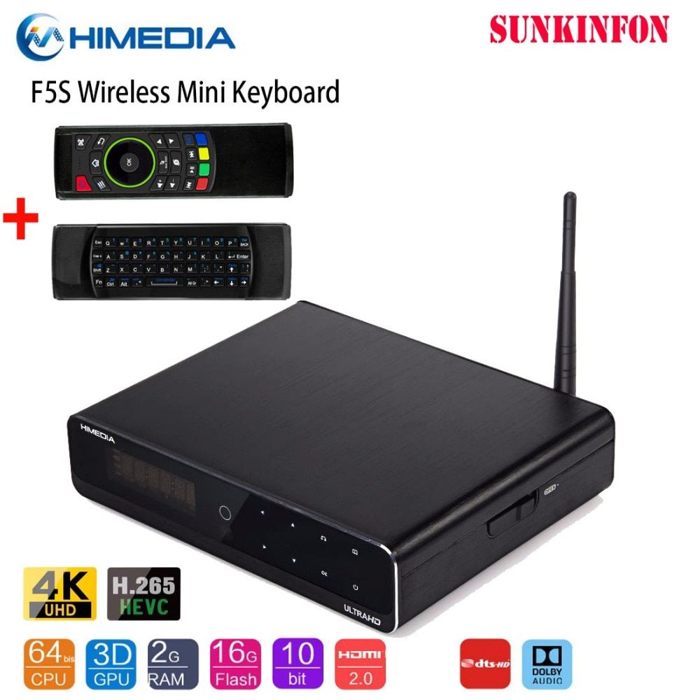2019 Original Himedia Q10 Pro 4K HDR 2G/16G Smart Android 7.1 TV BOX 2.4G/5G WIFI Dolby DTS 3.5