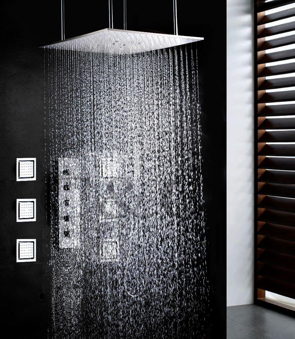 Taumel Und Regen Bad Badezimmer Set 20 zoll Zwei Funktionen Dusche Kopf Mit Großen Wasser Fluss Dusche Wasserhahn Ventil