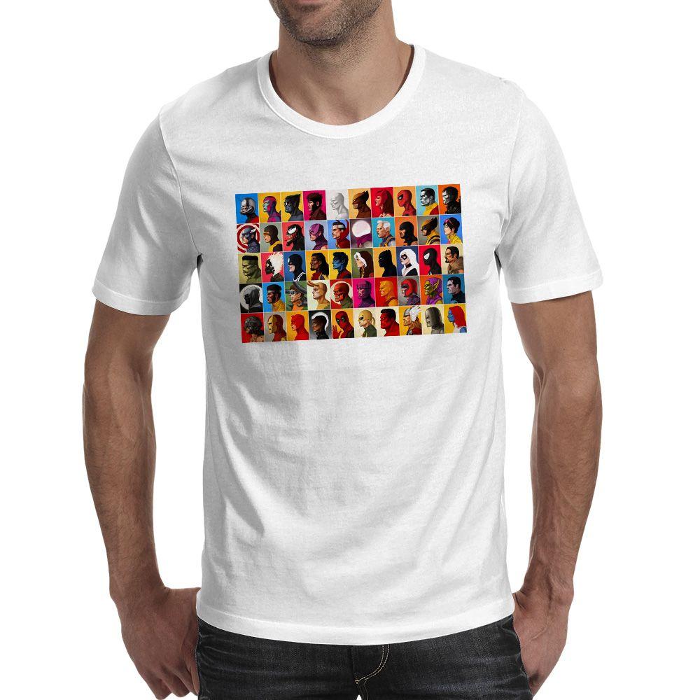T-shirt super-héros de marque Skate Pop T-shirt drôle imprimé Hip Hop T-shirt unisexe