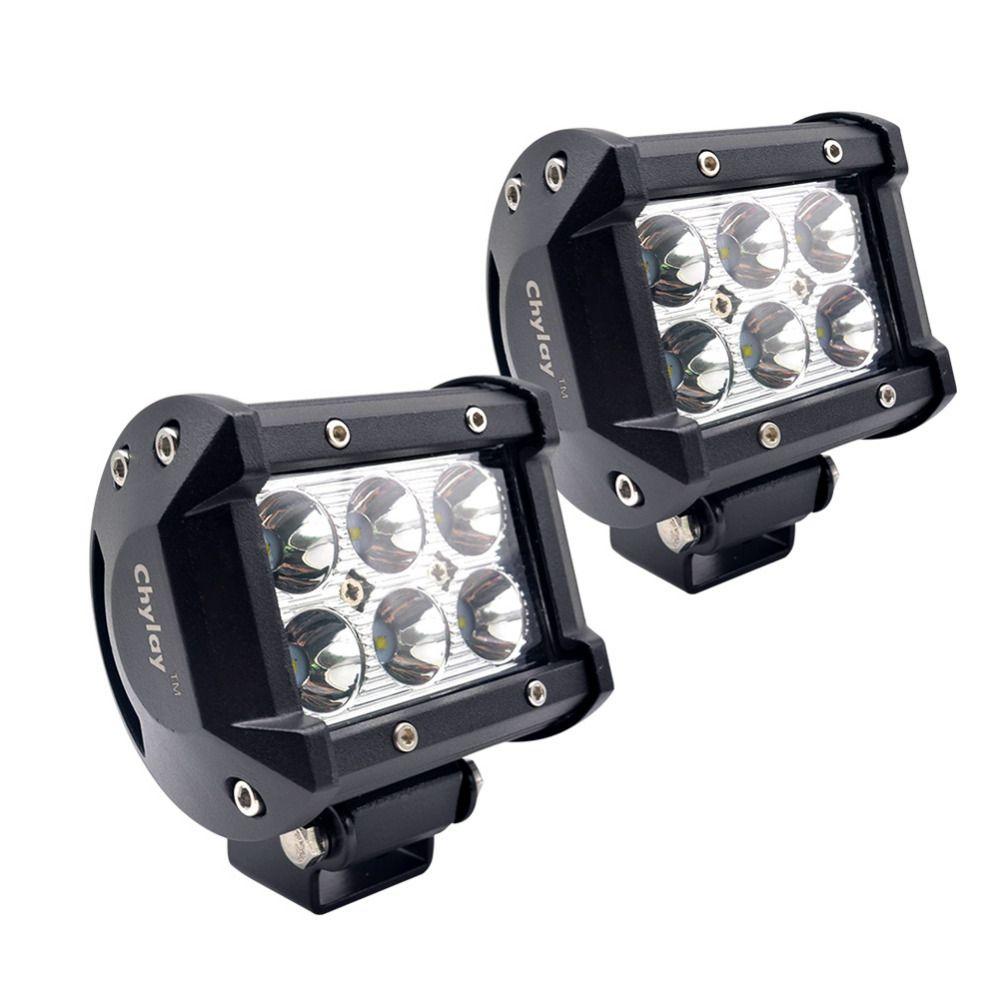 2pcs 4inch 18W Spot LED light bar Driving Fog Lights bulb Led Work Light for Off-road, Truck, SUV, Jeep