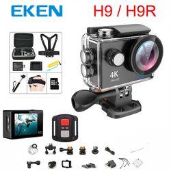 Оригинальная экшн-камера 100% eken H9/H9R Ultra HD 4K WiFi 1080 P/60fps 2,0 lcd 170D объектив шлем Cam Водонепроницаемая профессиональная спортивная камера