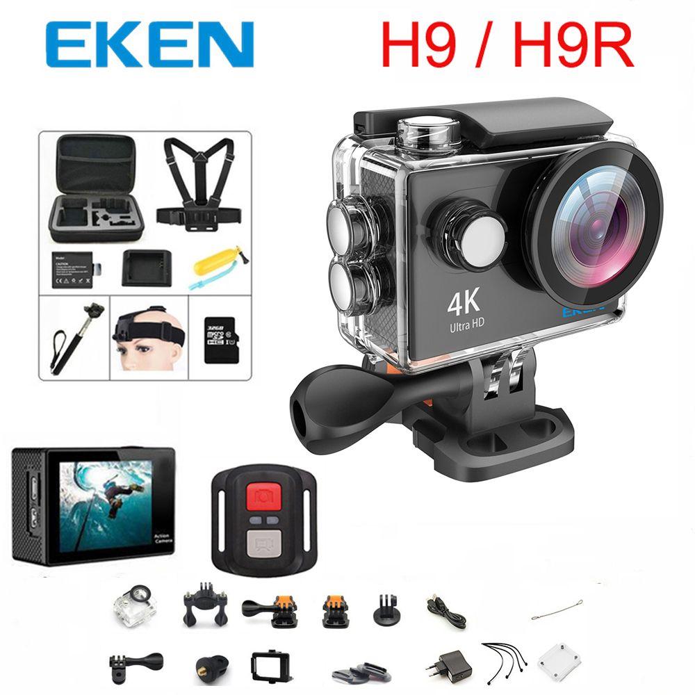 D'origine 100% EKEN H9/H9R D'action caméra Ultra HD 4 k WiFi 1080 p/60fps 2.0 LCD 170D lentille Casque Cam étanche pro sport caméra
