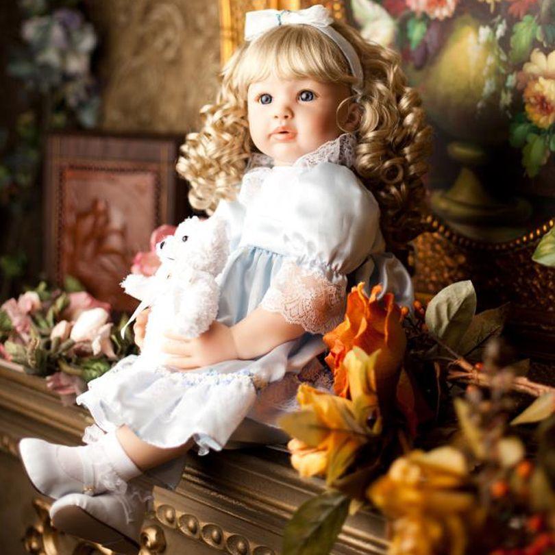 60 cm Silicone Reborn Bébés Poupées Princesse Enfant En Bas Âge Simulé De Vinyle Poupée Reborn Cadeaux De Noël Coton Corps Bébé Vivant Brinquedos