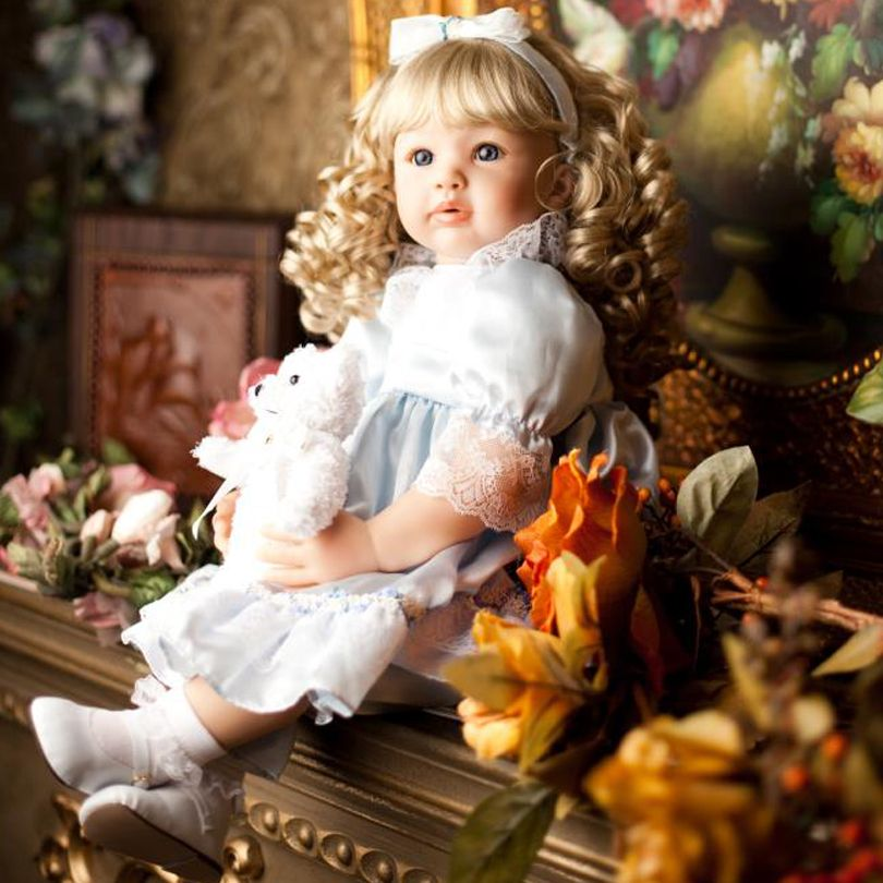 60cm Silicone Reborn Babies Princess Dolls Toddler Vinyl Simulated Doll Reborn Christmas Gifts Cotton Body Baby Alive Brinquedos