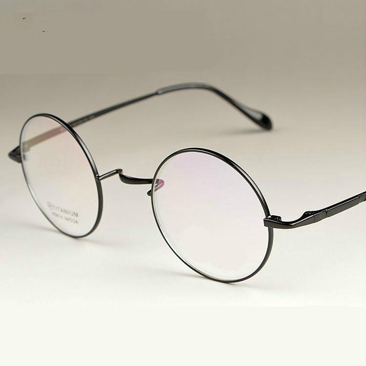 Viodream nouveau assistant de mode 100% titane pur lunettes cadres hommes femmes ronde lunettes or lunettes cadres 4 couleurs