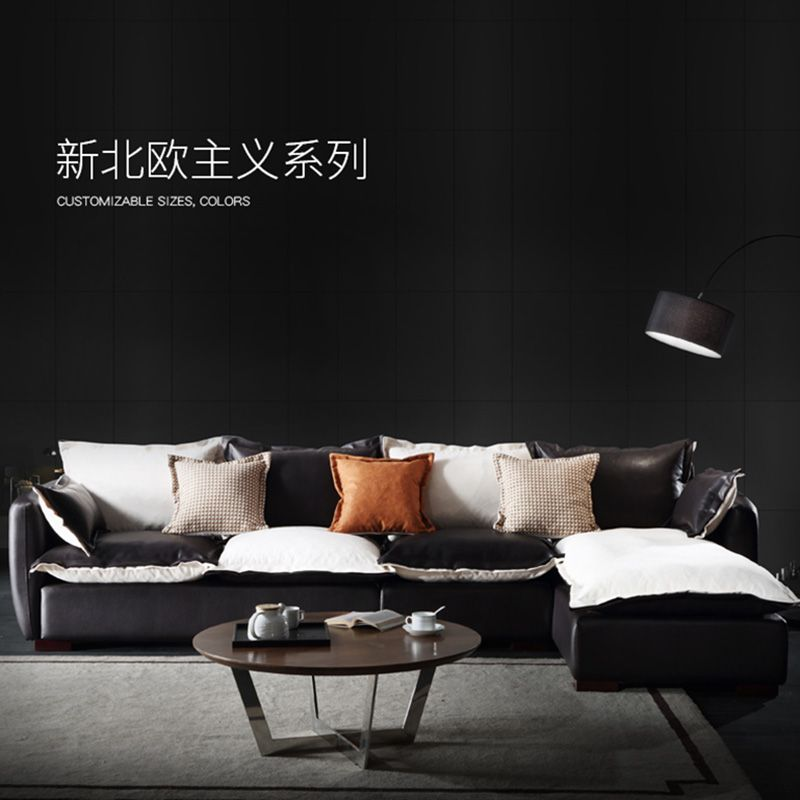 Simple and modern Nordic cloth sofa combination corner size apartment living room fitted latex sofa