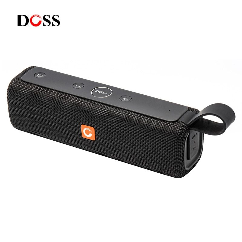 DOSS E-go ll Outdoor Bluetooth Speaker Portable Wireless Speakers IPX6 Waterproof Sound Box with Microphone AUX TF for Phone PC