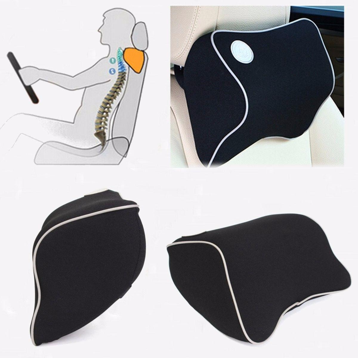 Car Seat Head Neck Rest Massage Memory Foam Cushion Support Headrest