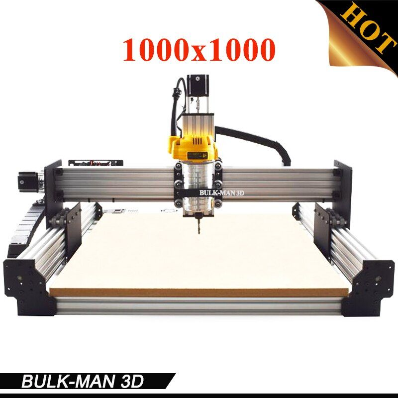 WorkBee CNC Complete Engraving Machine, WorkBee CNC Router Machine Full kit with Spindle Inverter, Electronic Combos 1000*1000mm