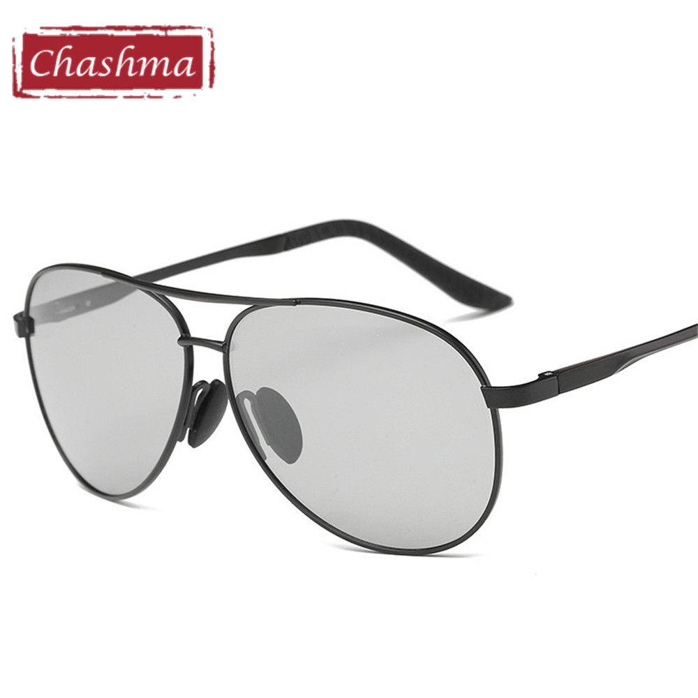 Chashma Große Rahmen Myopie Polarisierte Sonnenbrille Männliche Oversize Anti Glare UV 400 Rezept Sonnenbrille für Männer