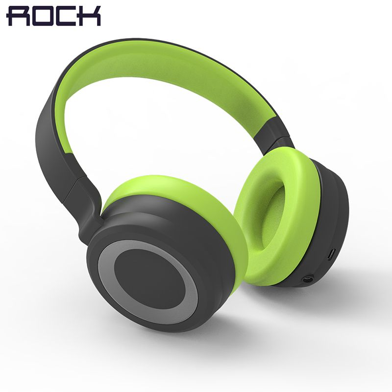 ROCK Space Series Wireless Bluetooth Headphone, Stereo Bass Over Ear Wireless Earphone Headset For Computer/ Phone Headset
