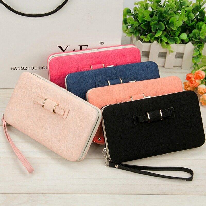2018 Women Wallets Purses Wallet Brand Credit Card Holder Clutch Coin Purse Cellphone Pocket Gifts For Women Money Bag
