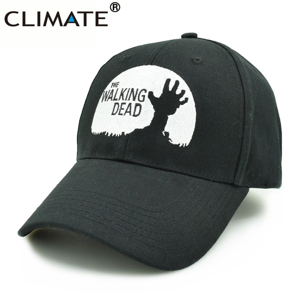 Климат Для мужчин женский, черный The Walking Dead шапки Рик Daryl Гленн Карл Мэгги Кэрол черный хлопок Бейсболки для женщин шапка для Для мужчин Для ж...