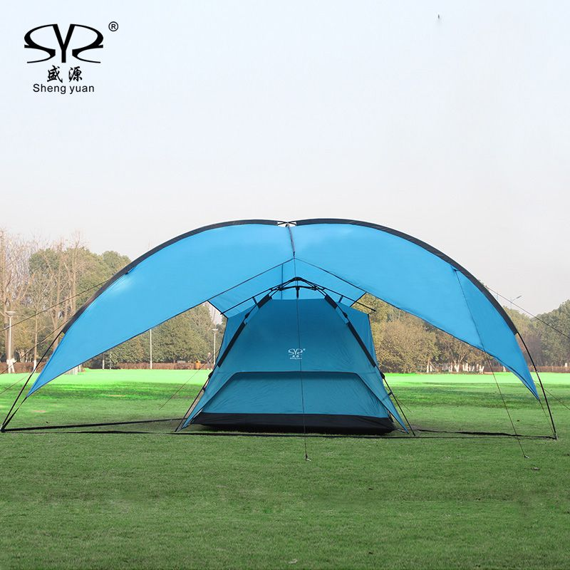 Sun Shelter UV With Poles Waterproof Awning Canopy Beach Tent Beach Shade Tarp Pergola Camping Picnic Pergola Sunshade Gazebo