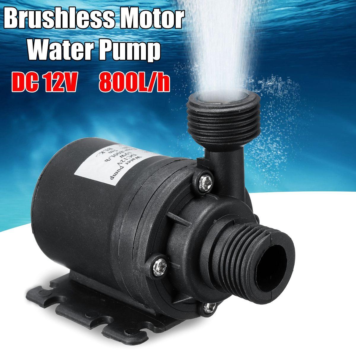 Mini pompe à eau Submersible Ultra-silencieuse de moteur sans brosse portatif de cc 12 V/24 V 5M 800L/H pour le réchauffeur de fontaines de système de refroidissement