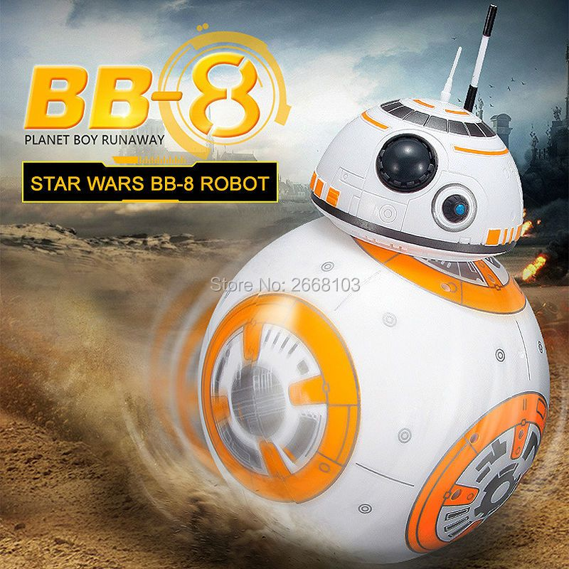 Upgrade BB-8 Ball 20.5cm <font><b>Star</b></font> Wars RC Droid Robot 2.4G Remote Control BB8 Intelligent With Sound Robot Toy For Kids Model Action