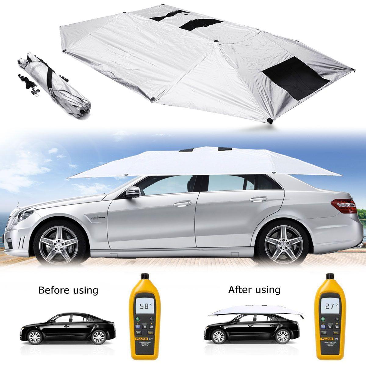 Tragbare Abnehmbare Außen Auto Zelt Regenschirm Dach Sonnenschirm Abdeckung UV Schutz Auto Sonnenschutz Auto Zubehör Folie Sonnenschutz