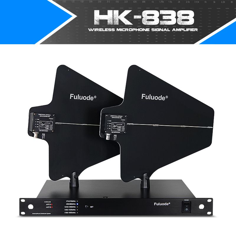 Wireless microphone amplifier antenna receiving signal enhancement distance of 400 meters can be connected with 10 microphone