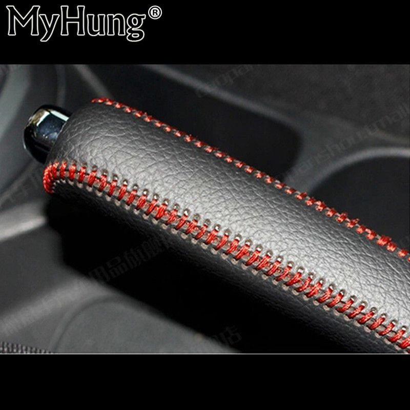 1 Pc Car Leather Sew-On Gears Handbrake Cover Auto Parts Accessories For KIA K2 RIO 2011 2012 2013 2014 2015 Car Accessories