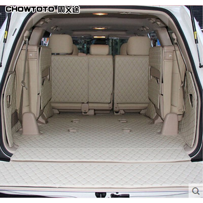 CHOWTOTO Custom Special Trunk Mats For Toyota Land Cruiser 7/8 Seats Waterproof Boot Carpets For Toyota LC120 LC200 Lagguge Pad