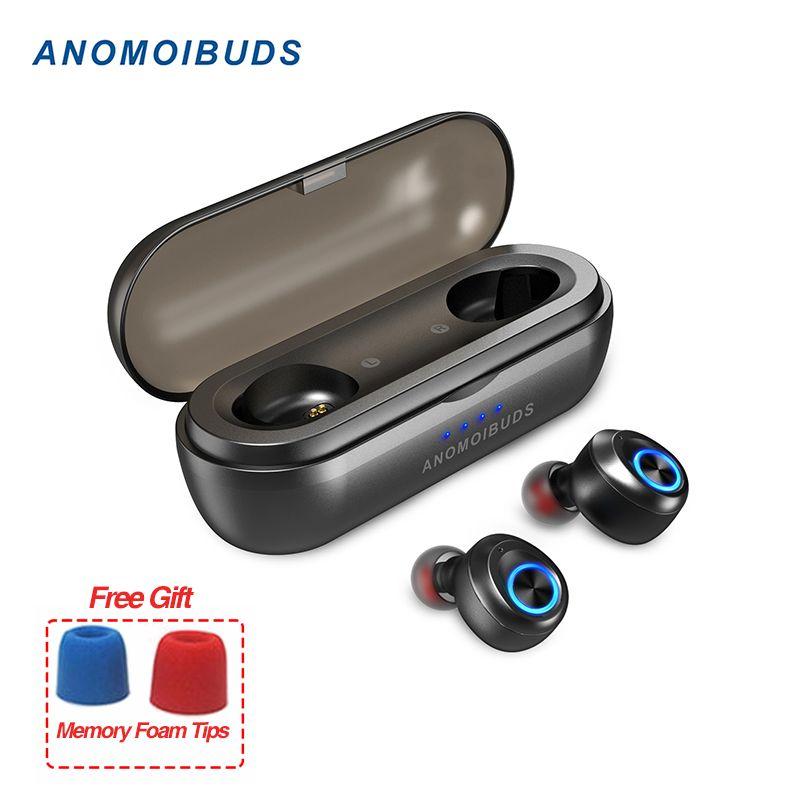 Anomoibuds Capsule Pro 50 Heure La Récréation soutien aac écouteurs tws V5.0 écouteurs bluetooth Deep Bass Salut-fi écouteurs stéréo