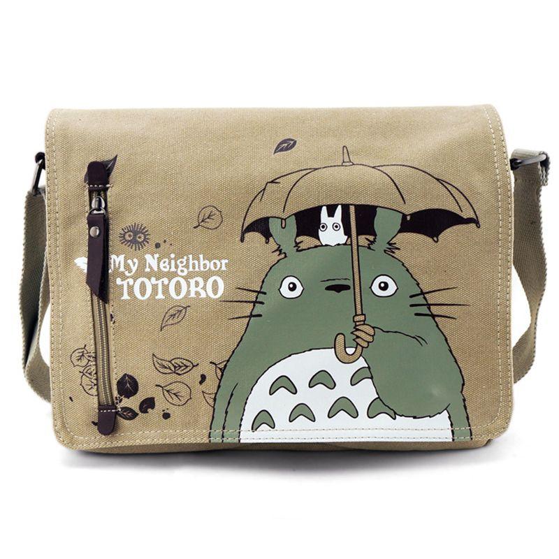 Fashion Totoro Crossbody Bag Men Messenger Bags Canvas Shoulder Bag Cartoon Anime Neighbor Male <font><b>School</b></font> Letter Tote Handbag