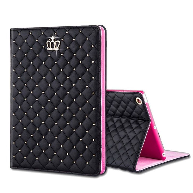 Luxury Bling <font><b>Crown</b></font> Case for Funda iPad Air 1 Air 2 Case Flip Stand Funda for iPad Air 1 2 for iPad 2 3 4 Case Luxury 9.7''