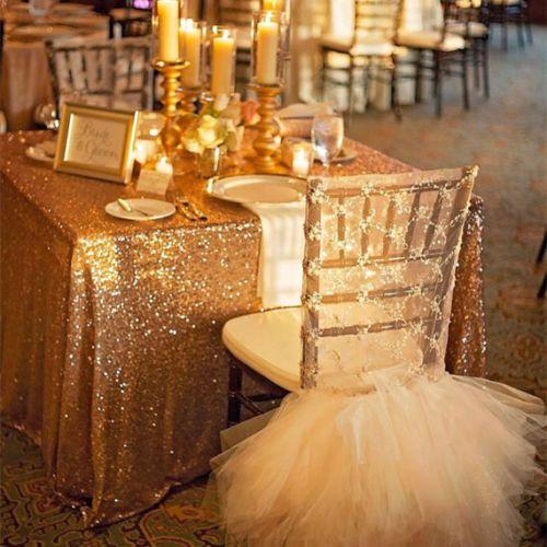 Chaude 48inx72in or foncé Sequin nappe Rectangle Style pour mariage/fête/Banquet mariage nappe décoration (livraison gratuite)