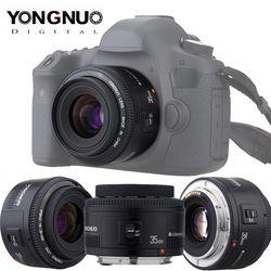 Yongnuo YN35mm F2.0 lente para Canon 600d 60d 5DII 5D 500D 400D 650D 600D 450D YN50mm f1.8 lente para Canon EOS 60D 70D 5D2 5D3 600D