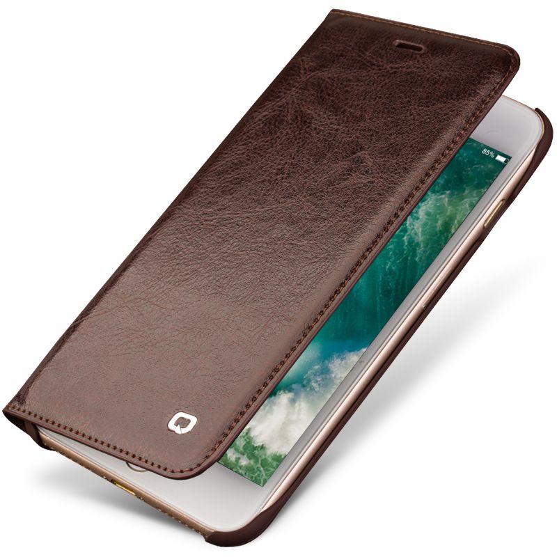 QIALINO Echtes Leder Mode-Fall für iPhone 7 Handgemachte Luxus Ultra Slim Flip Telefonabdeckung für iPhone 7 plus 4,7/5,5 zoll