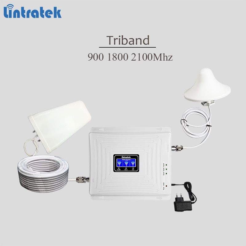 2018 neue tri band cellular signal booster 900 1800 2100 GSM UMTS LTE signal repeater 3g 4g lte handy verstärker mit full kit