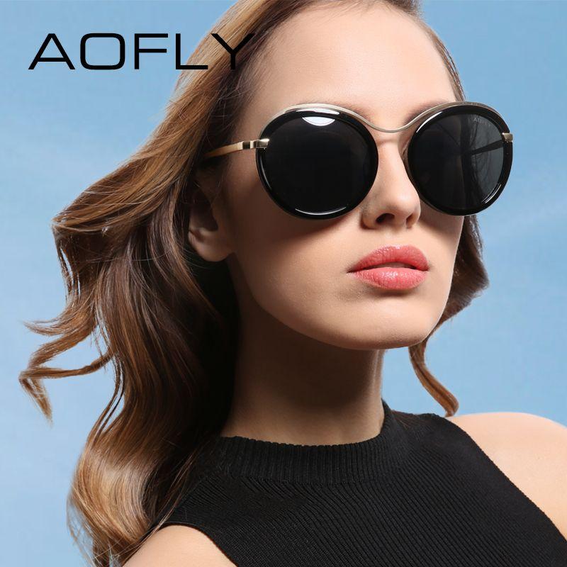 Бренд AOFLY Мода 2017 г. Солнцезащитные очки для женщин Для женщин Дизайн Защита от солнца Очки женский стеклами Lunettes De Soleil оттенков с случае UV400 ...