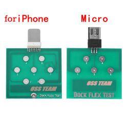 Ponsel Profesional Daya Baterai Pengisian Dock FLEX Uji Alat Perbaikan untuk Micro iPhone Android Ponsel U2 Baterai Dock Plug