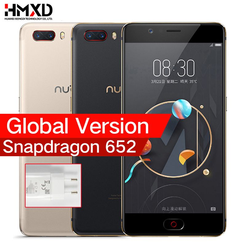 <font><b>Global</b></font> Version ZTE Nubia M2 4G LTE Snapdragon 625 Cell Phone 5.5 1080P 4G RAM 64GB ROM 16.0MP 3630mAh Battery Mobile Phone