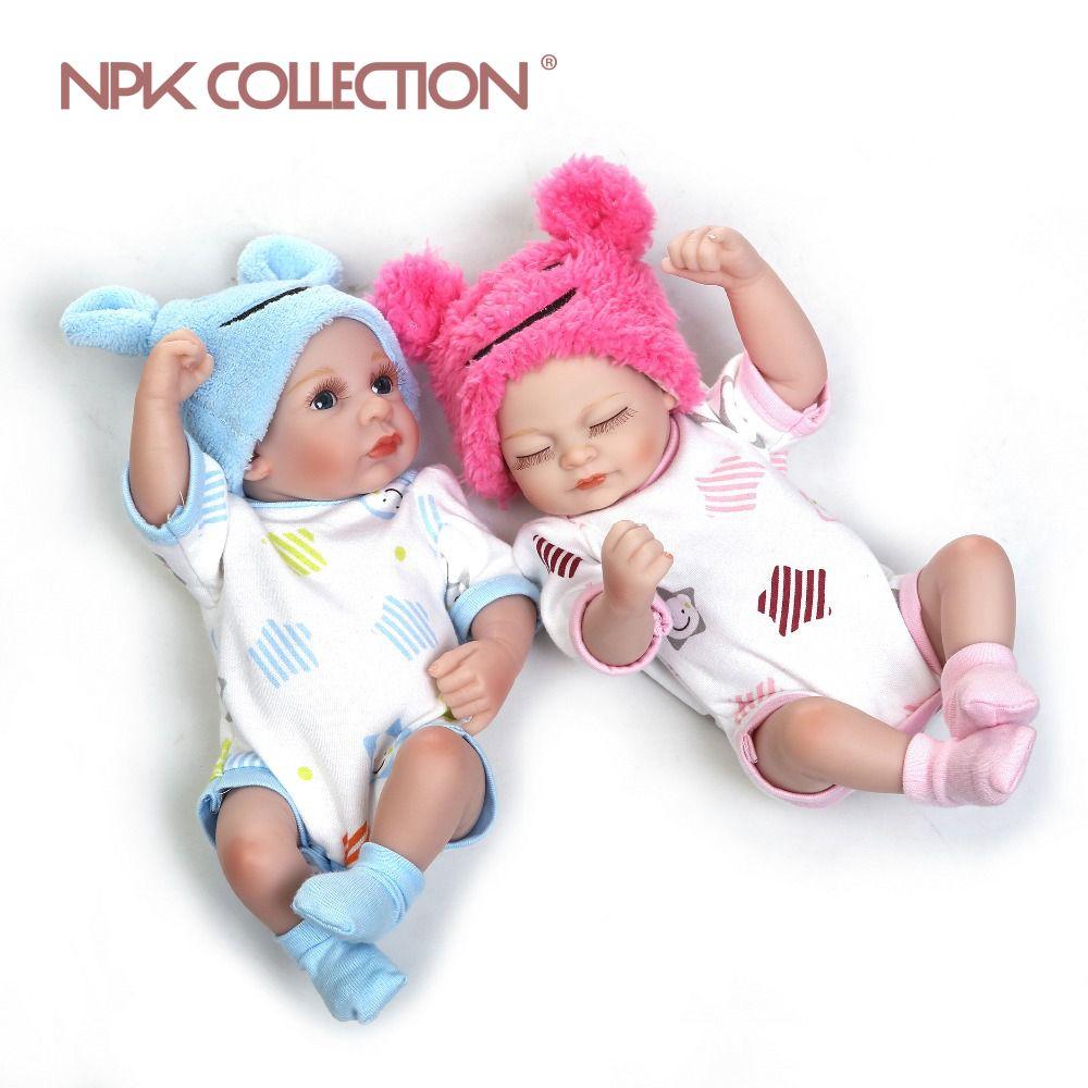 NPK bebe reborn poupée vente chaude jouets pas cher en silicone reborn bébé poupées mini double en gros Cadeau Bonecas Noël mignon bébé