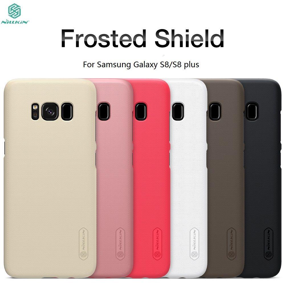 Cas Pour Samsung Galaxy S8/S8 Plus NILLKIN Givré Bouclier Couverture Arrière Pour Samsung Galaxy S8 Cas S8Plus S8 + pare-chocs avec détail